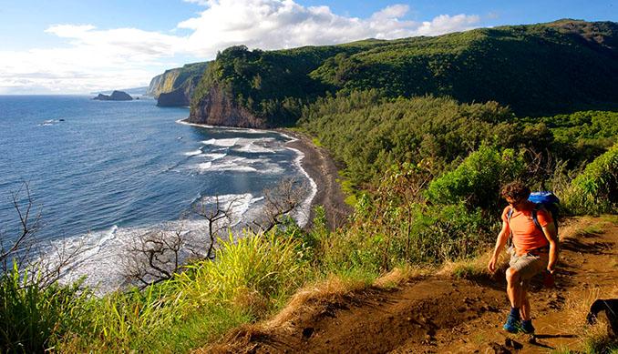 Hawaii bietet nicht nur traumhafte Strände, sondern stellt sich als Paradies für Freunde des Wanders raus © Wikinger