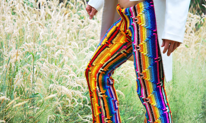 Bunte Hippie Strick Mode