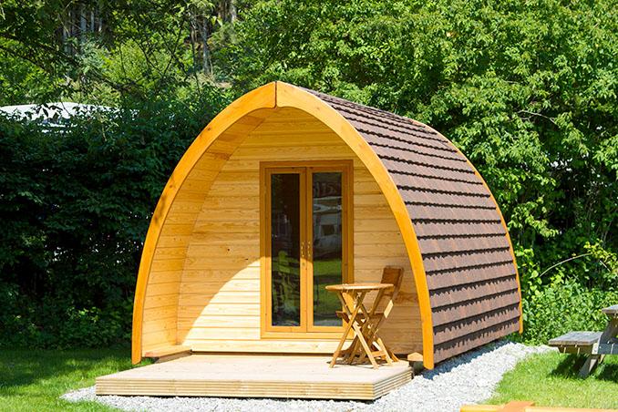 Die Vorteile des Pods liegen auf der Hand: Kompakt, aber komfortabel © ECOCAMPING e.V.