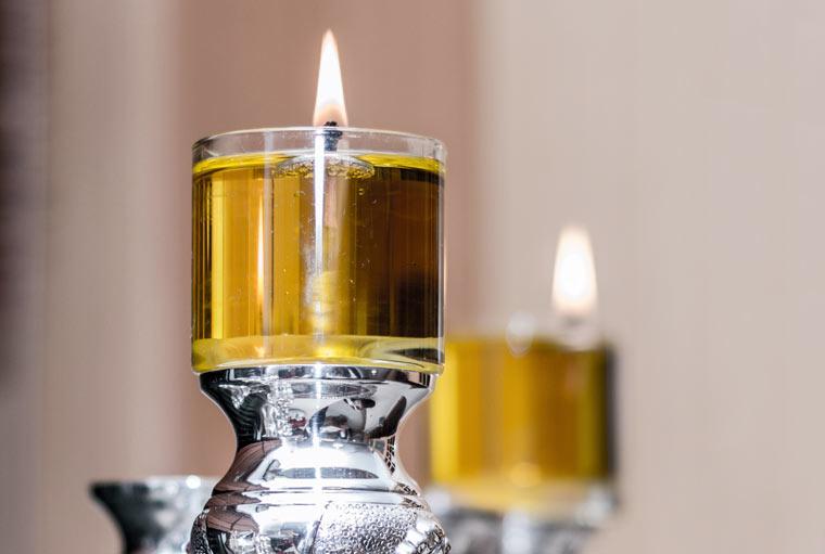 Olivenöl Kerze
