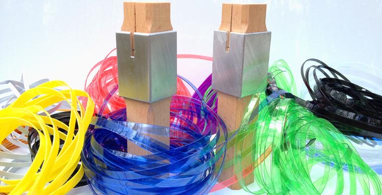 Kordeln hergestellt aus alten PET Flaschen