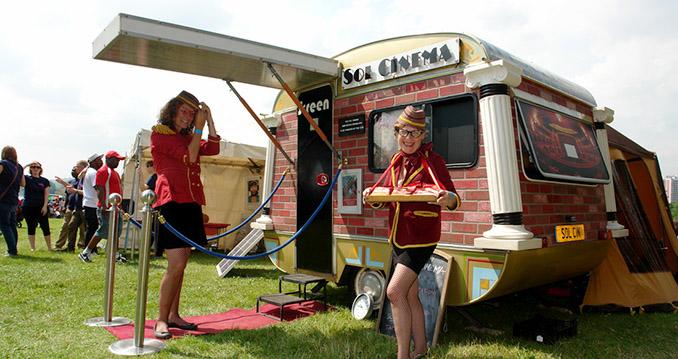 The Sol Cinema lädt zum Filme schauen ein © The Sol Cinema