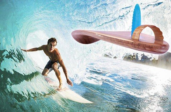 Ein Surfbrett ganz ohne Plastik