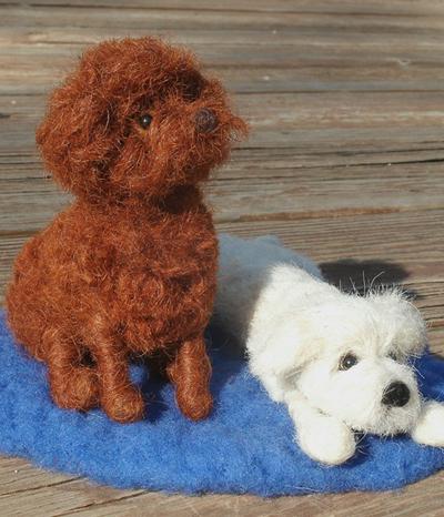 Liebevolle Filzkopie von Ihrem Haustier