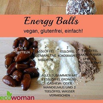 Vegane Energy Balls ganz einfach selber machen