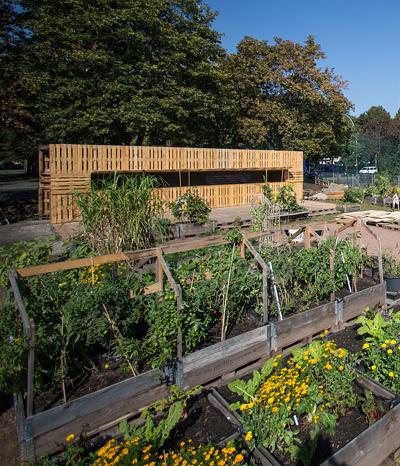 Nachhaltige Architektur aus Paletten