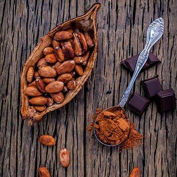 Pure Schokolade ohne Zucker