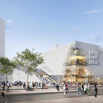 Shopping Center mit riesigem Dachgarten
