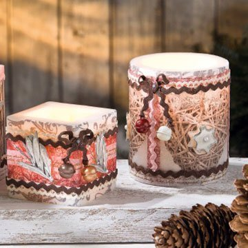 Stimmungsvoller Kerzenschein: Üppig dekorierte Motivkerzen basteln