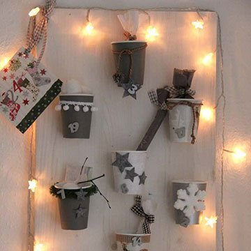 Mit Pappbechern für Adventszeit basteln
