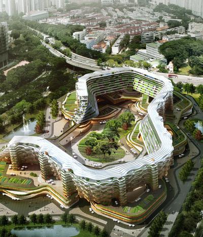 Großstadtgärten im und auf dem Hochhaus