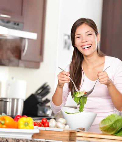 Sport und eine natürliche Ernährung