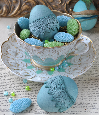 Herrliche Vintage Ostereier selbstgemacht