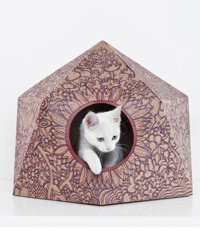 Tolle Papp-Häuser für den pelzigen Freund