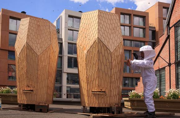 Riesen Bienenstöcke,neuer Lebensraum für Stadt-Bienen