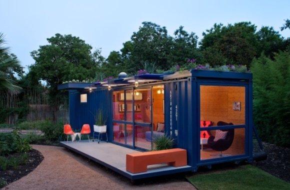 Vortrefflich gastieren: Ein Container wird zum schmucken Gästehaus