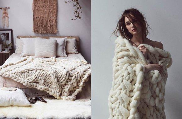 Mit dieser Anleitung stricken Sie Ihre Decke ganz einfach selbst
