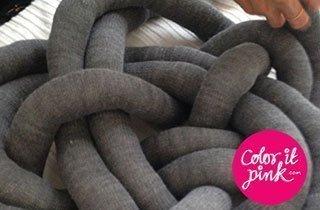 DIY: Knoten-Kissen zum Selbermachen