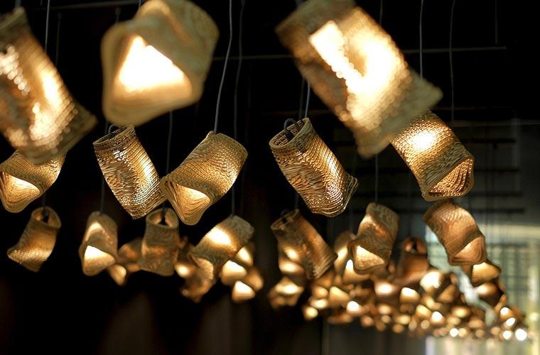 Schöne Lampen aus Pappe