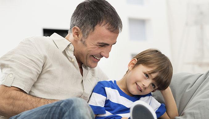Viele Väter sehen die Familie als wichtigen Faktor an