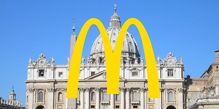 McDonalds im Vatikan: Nächstenliebe für gute PR?