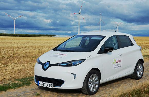Fahrzeugtest RENAULT ZOE: Elektro-Power in Weiß