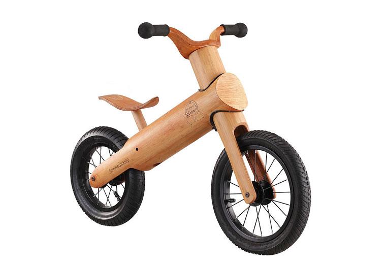 Balance Bike aus Bambus für Kinder