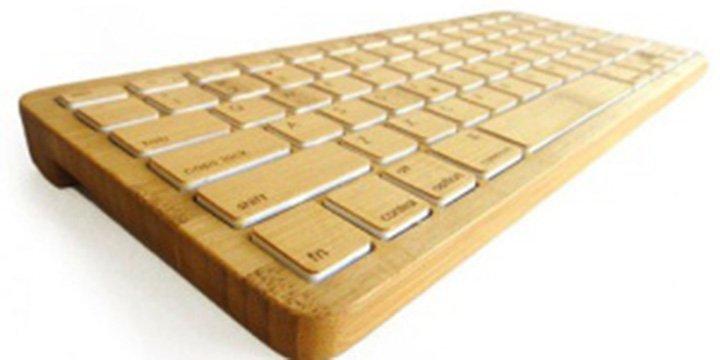 Schick und gut zu bedienen: Umweltfreundliche Tastatur aus Bambus