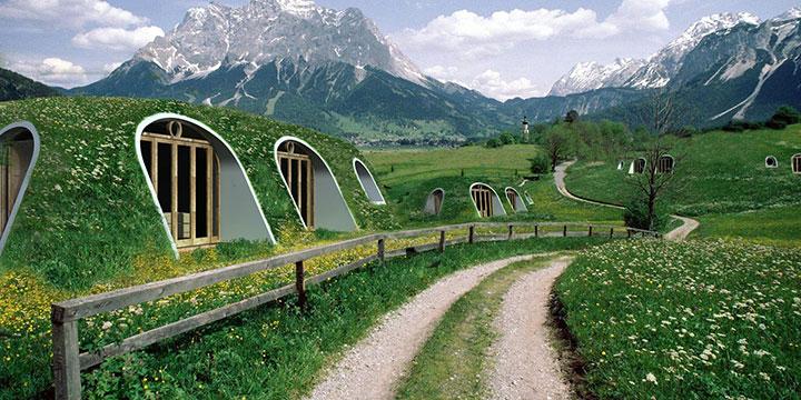 Nachhaltige Häuser- Leben wie im Auenland
