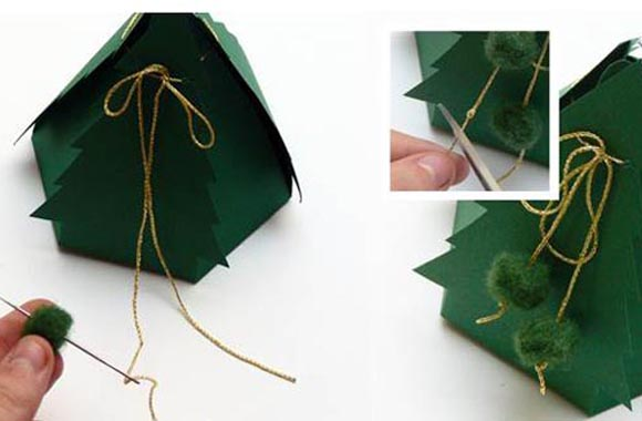 Geschenkschachtel als Tannenbaum