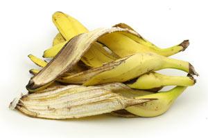Bananenschalen als organischer Dünger