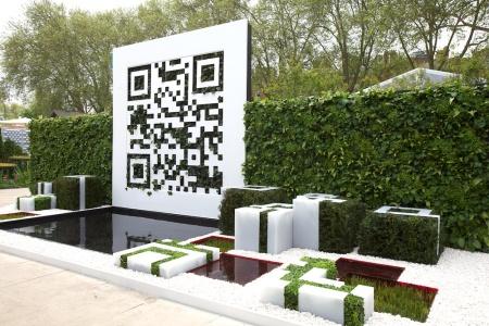 Chelsea Flower Show setzt die Trends in der Garetengestaltung: Hier ein QR-Code