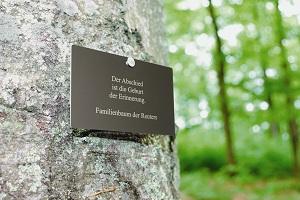 Auf Wunsch kann auch eine Namenstafel am Baum befestigt werden ©FriedWald