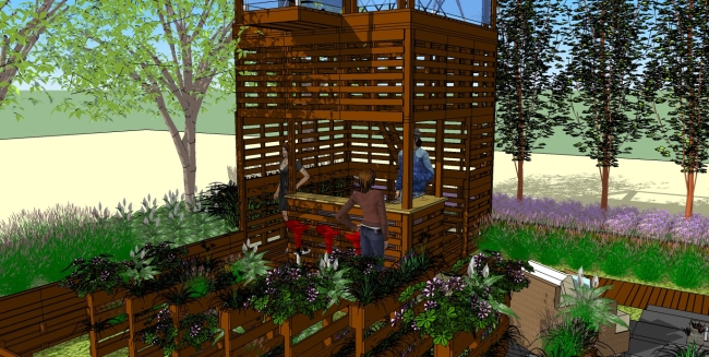 nachhaltige landschafts architektur paletten garten von b. Black Bedroom Furniture Sets. Home Design Ideas
