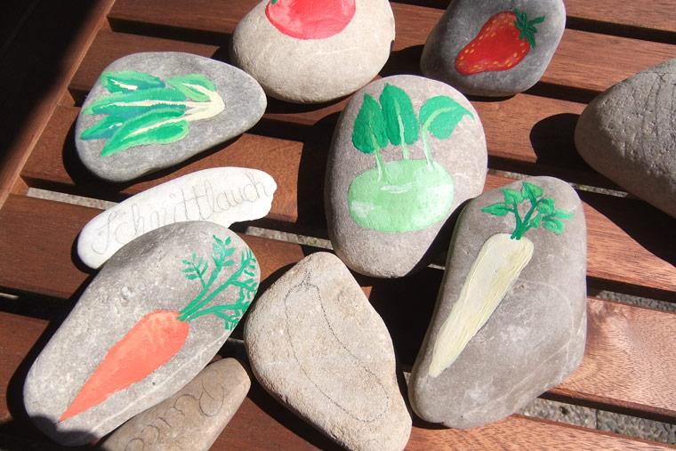 Steine bemalen deko f r den garten selber machen - Steine im garten selbst gemacht ...