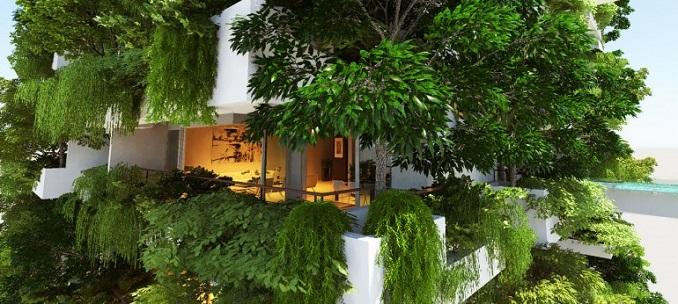 vertikaler garten luxus grün