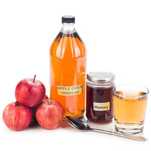 Apfelessig und Honig