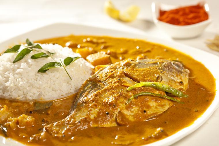 Fischcurry gegen Migräne - persischer Reis mit gegrillter Makrele