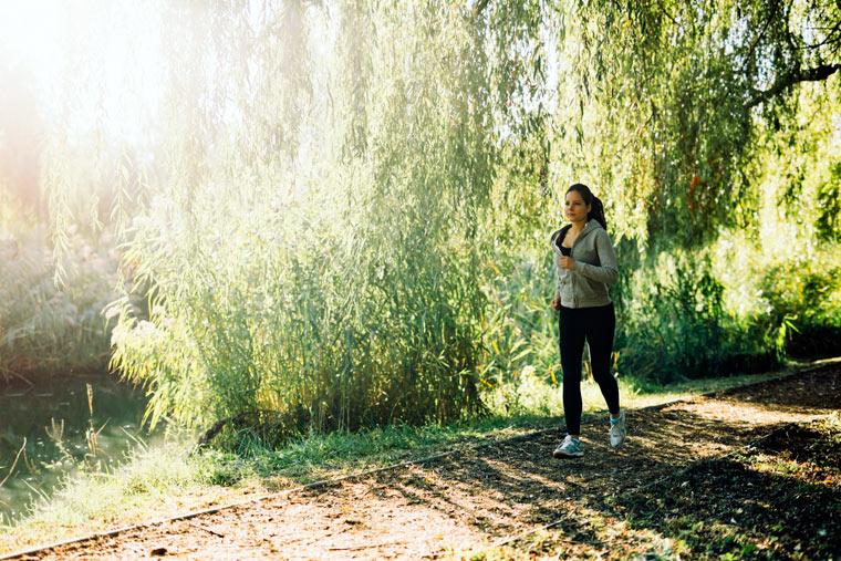 Bewegung und frische Luft fördern die Durchblutung
