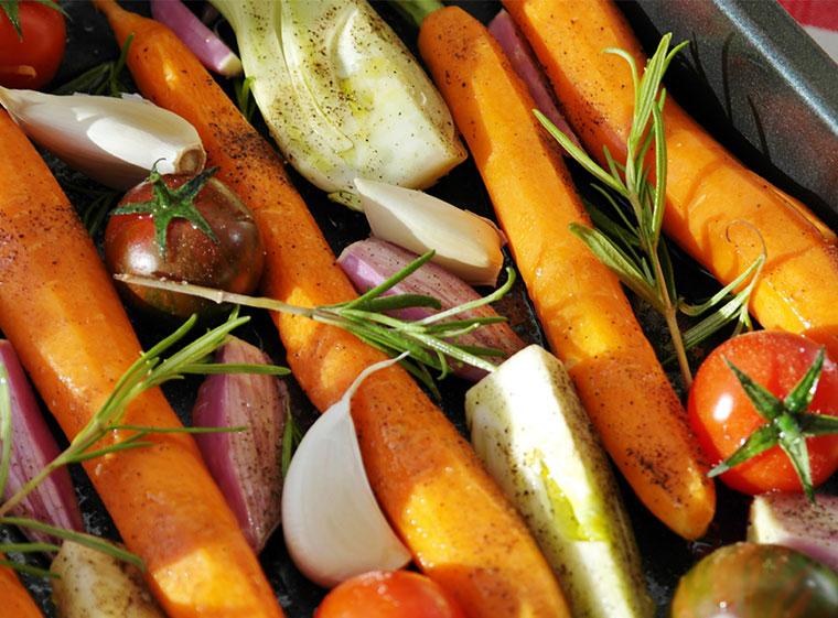 Grillgemüse als leckeres veganes Gericht.