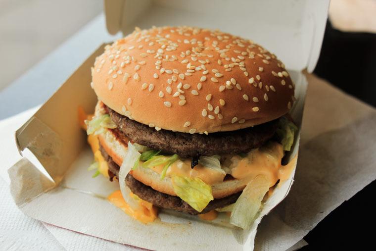 Giftige Substanzen in Fast Food-Verpackungen