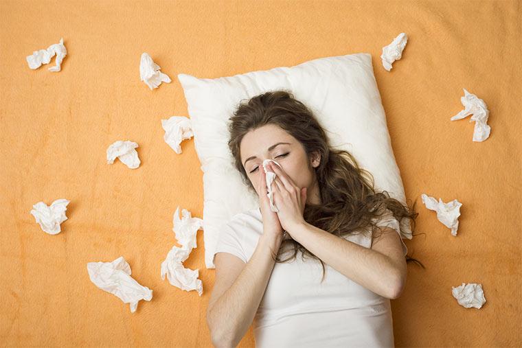 Im Bett befinden sich besonders viele Hausstaubmilben