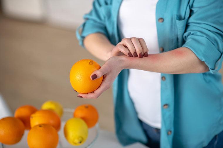 Juckreiz durch Lebensmittelallergie