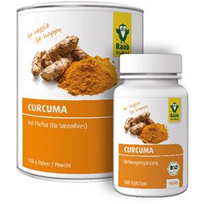 Nahrungsergänzung mit dem Curcuma Pulver von Raab Vitalfood