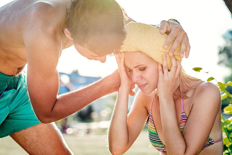 Ein Hitzeschlag kann schwerwiegende Folgen haben.