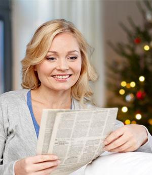 Den Jahresrückblick in der Zeitung lesen