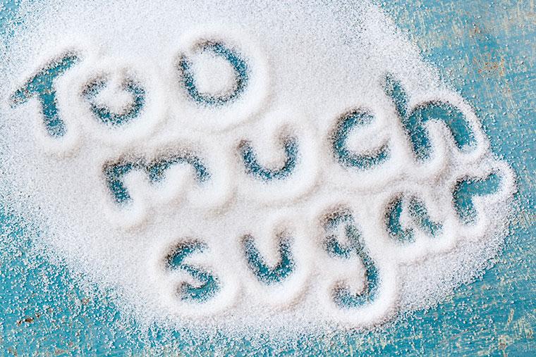 Zu viel Zucker macht krank.