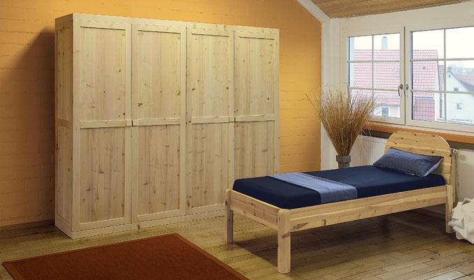 elektrosmog frei schlafen durch holz kleiderschr nke im schlafzimmer. Black Bedroom Furniture Sets. Home Design Ideas