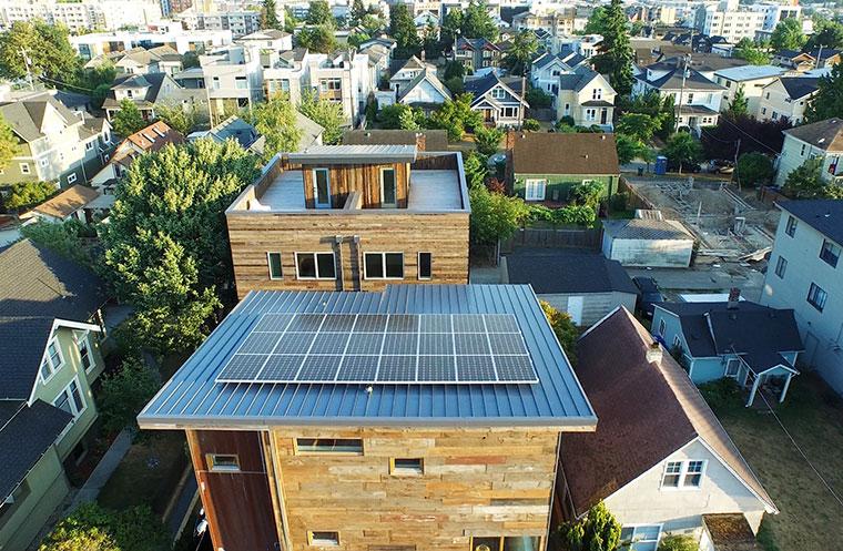 Eco Haus von oben