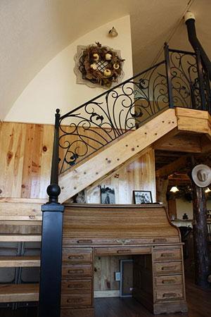 Inneneinrichtung in der Arched Cabin